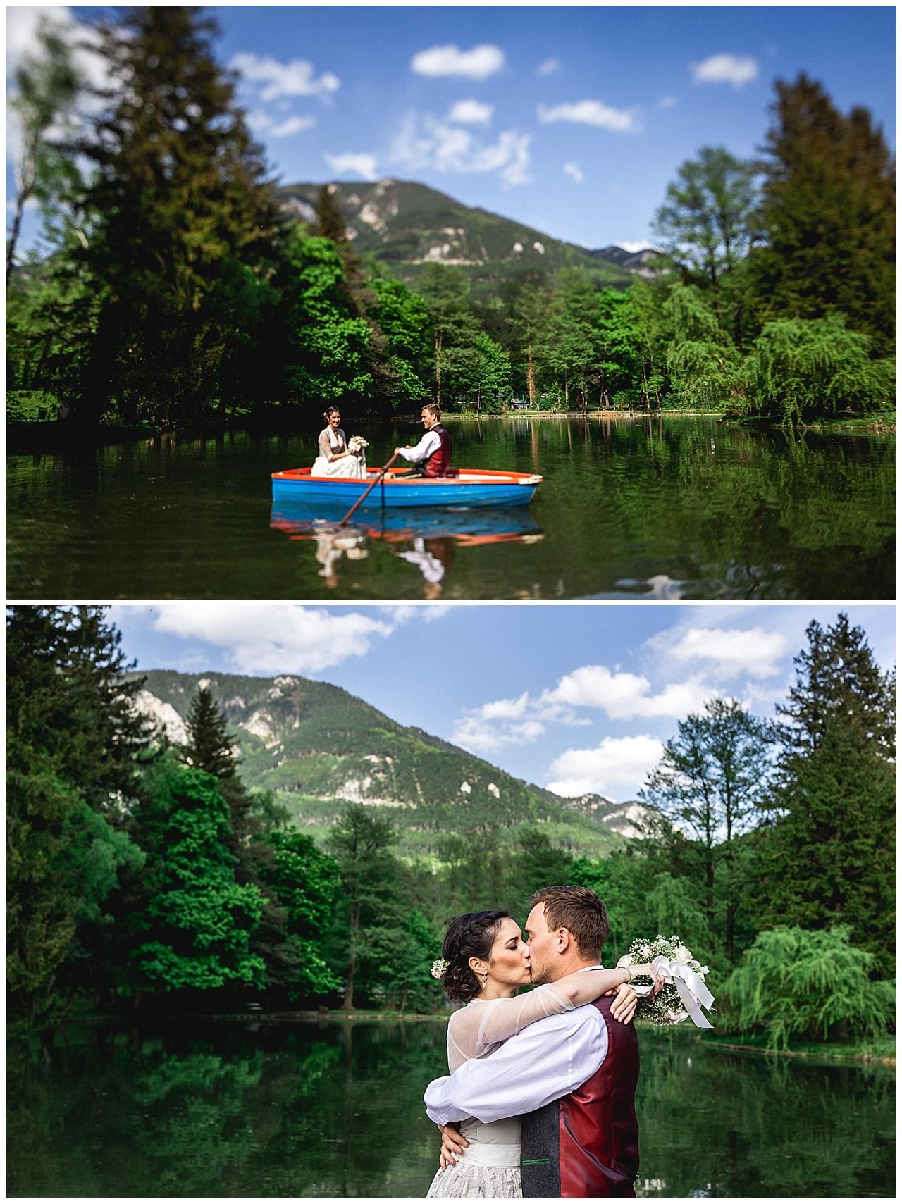 Hochzeitsfotograf Niederösterreich Boot Reichenau